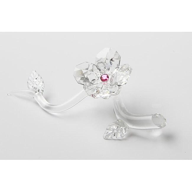 Asfour Crystal Elegant Rose Figurine