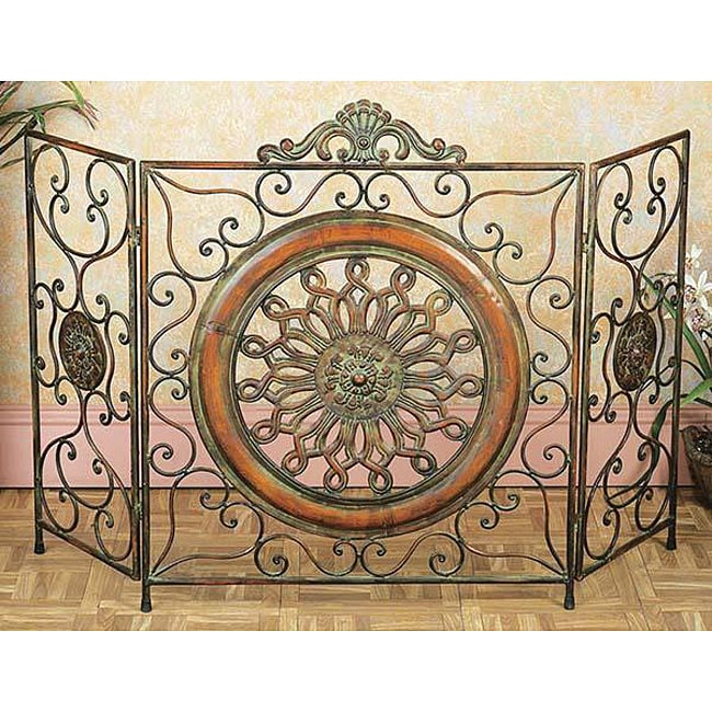 Overstock.com Mediterranean Antiqued Metal Fireplace Screen at Sears.com