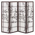 Oriental Shoji 4-panel Room Divider Screen