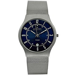 Skagen Men's 233XLTTN Titanium Blue Dial Watch