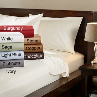 Egyptian Cotton 1000 Thread Count Solid Luxury Sateen Sheet Set and Pillowcase Separates