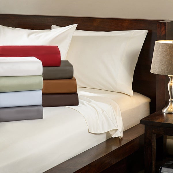 Egyptian Cotton Deep Pocket 1000 Thread Count Solid Luxury Sateen Sheet Set or Pillowcase Separates