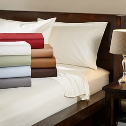 Egyptian Cotton 1000 Thread Count Solid Luxury Sateen Sheet Set or Pillowcase Separates
