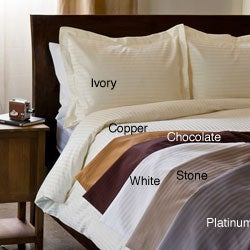 Egyptian Cotton 1000 Thread Count 3-piece Damask Stripe Luxury Duvet Cover Set