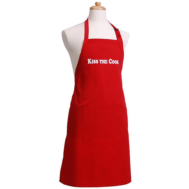 Kiss the cook men s flirty red apron 12969500 overstock com