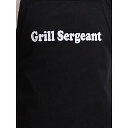 'Grill Sergeant' Men's Flirty Black Apron