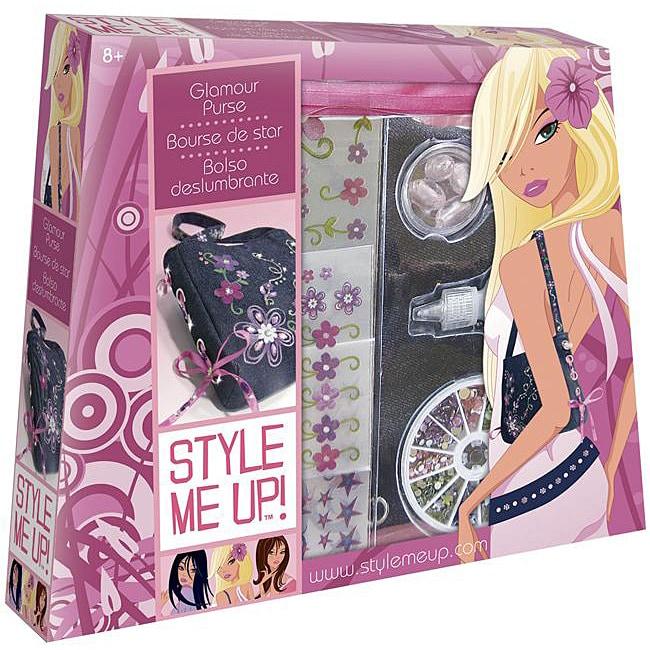 Style Me Up! Glamor Pink-ribboned Denim Purse Kit with Embellishments