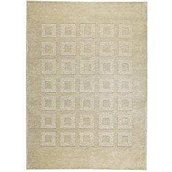 Hand-knotted Marm Beige Wool Rug (8'3 x 11'6)