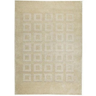 M.A.Trading Hand-knotted Marmara Beige Wool Rug (8'3 x 11'6)