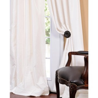 Signature Cream Faux Silk Taffeta 108-inch Curtain Panel