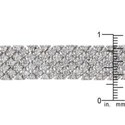 Kate Bissett Silvertone Cubic Zirconia Oversized Belt Bracelet