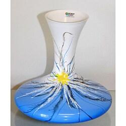 Blue Desert Flower Glass Vase