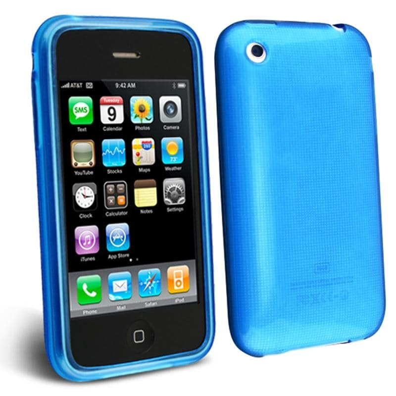 INSTEN TPU Rubber Skin Phone Case Cover for Apple iPhone 3G/ 3GS