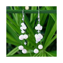 Pearl 'Purity' Waterfall Earrings (Thailand)