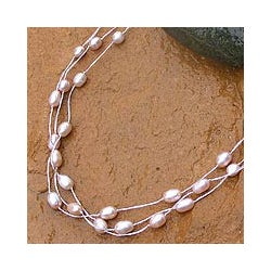 'Charming Rose' Pearl Choker (4-6 mm) (Thailand)