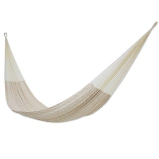 Handmade Cotton 'Natural Comfort' Hammock (Mexico)