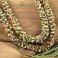 Nylon Cord 'Autumn Garland' Unakite Strand Necklace (India)