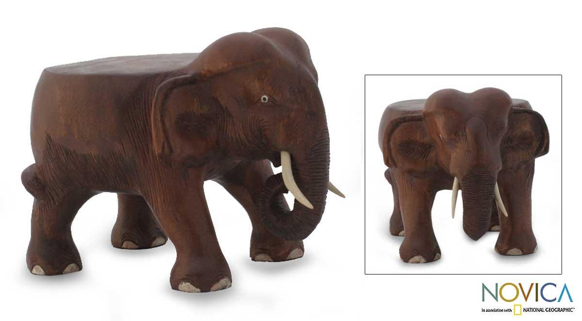 Wood 'Thai Elephant' Stand (Thailand)