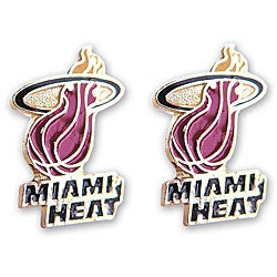 Miami Heat NBA Post Stud Logo Earring Set