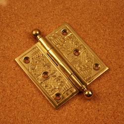 Windsor Collection Polished Brass 3.5-inch Door Hinges (Pack of 3)