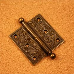 Handcrafted Solid Brass Decorative Hinges (Pack of 3)