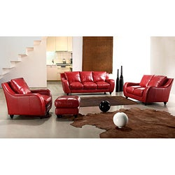 EuroDesign 3-piece Leather Sofa Set