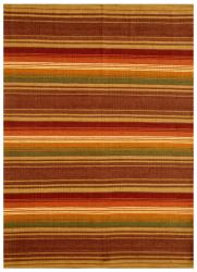 Hand-woven Jute/ Cotton Multicolor Rug (5' x 8')