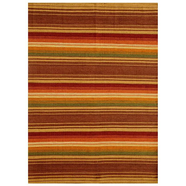 Hand-woven Jute/ Cotton Multicolor Rug (6' x 9')