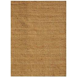 Hand-woven Basket Natural Jute Rug (8' x 11')