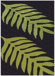 Hand-tufted Green Leaves Wool Rug (8' x 11')