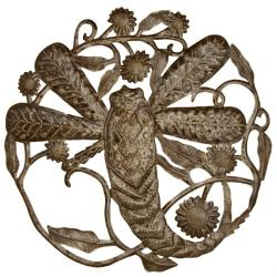 Metal 'Dragonfly' Oil Drum Art (Haiti)