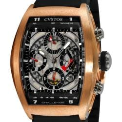 Cvstos Men's 'Challenge Tonneau' Rose Gold Chronograph Watch
