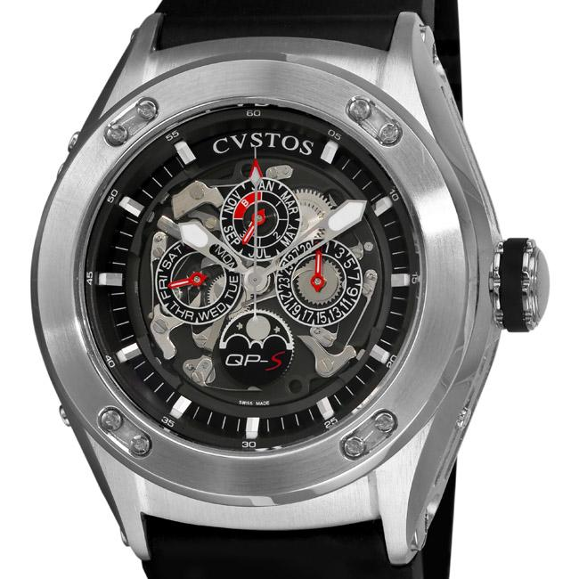 Cvstos Men's CVQPRNSTGR 'Challenge-R 50 QP-S' Perpetual Calendar Watch
