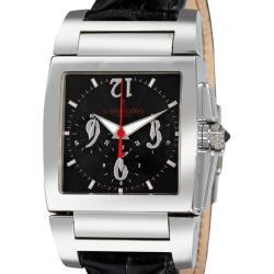 de GRISOGONO Men's CHRONO N01 'Instrumento Uno Chronographe' Automatic Watch with Black Leather Strap