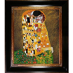 Gustav Klimt 'The Kiss' Canvas Art