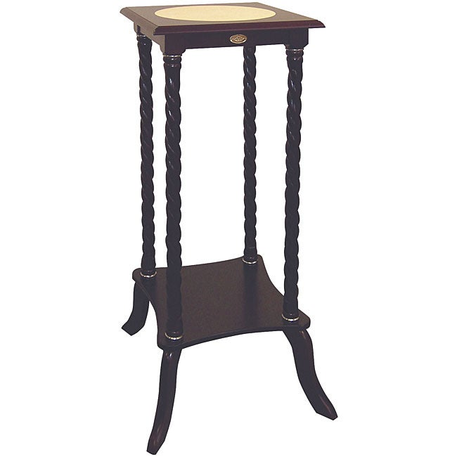 Cherry Wood Ceramic-top Flower Stand