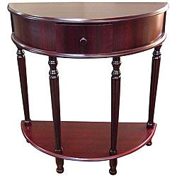 Crescent Cherry End Table