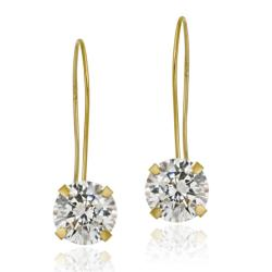 Icz Stonez 10k Yellow Gold Cubic Zirconia Dangle Earrings