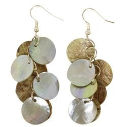 Mother of Pearl Cluster Earrings with Sterling Silver Hook (China)