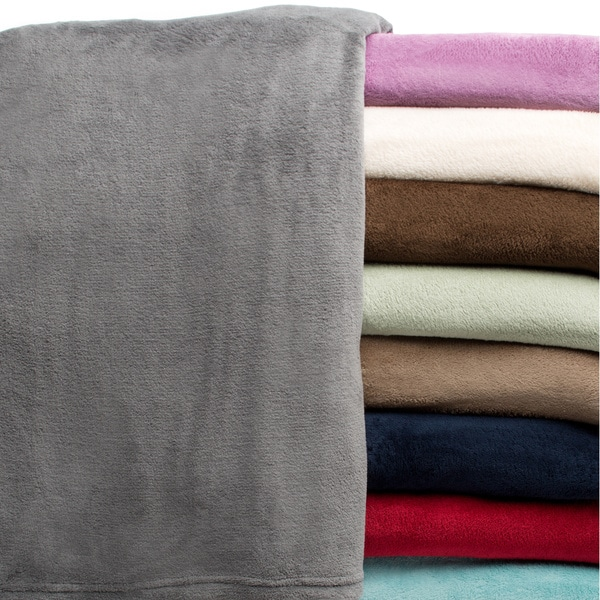 All Seasons Solid Microplush Blanket