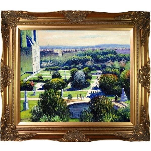 Monet 'Les Tuileries, 1876, Musee Marmottan' Canvas Art