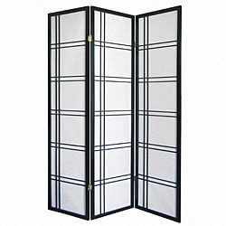 Girard 3-Panel Black Decorative Screen