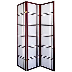 Girard 3-panel Cherry Room Divider Screen