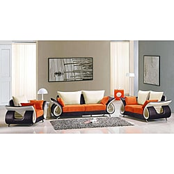 EuroDesign 3-piece Fabric Sofa Set