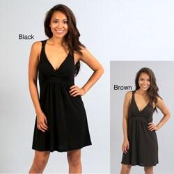 Black Wishes Juniors Unlined Pullover Sleeveless Macrame Dress