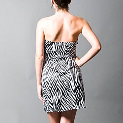 Wishes Juniors Size 7 Zebra Print Strapless Dress