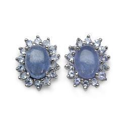 Malaika Sterling Silver Tanzanite Stud Earrings