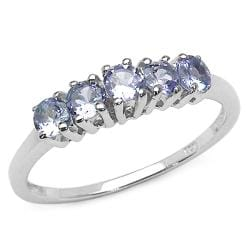 Malaika Sterling Silver Purple Tanzanite Ring