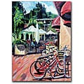 Colleen Proppe 'Bikes in Town' Canvas Art