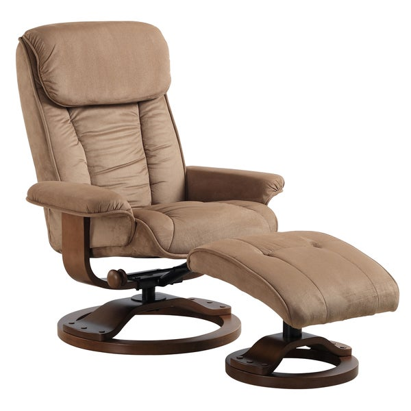 Comfort Chairs Mocha Microfiber Swivel Recliner 12976488 Sh
